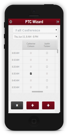 parent teacher conference scheduling software app